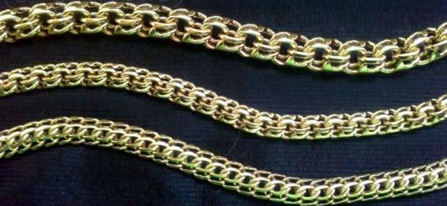 Плетение золотой цепочки Бисмарк