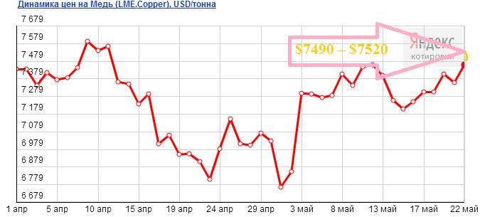 Прогноз цен на медь на июнь 2013 года