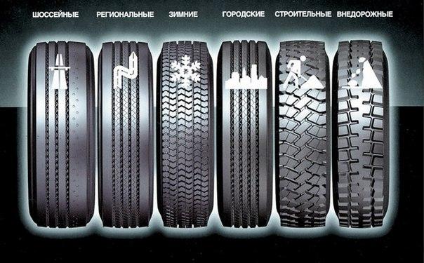 Разновидность шин