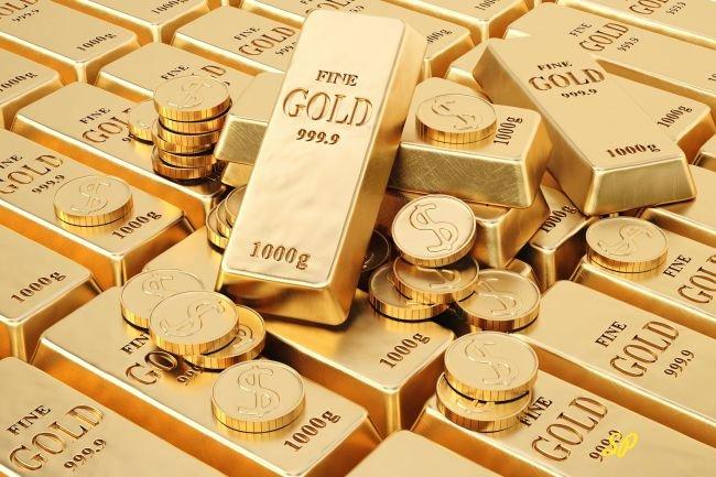 золотые монеты, золото высшей пробы, слитки, золотые слитки