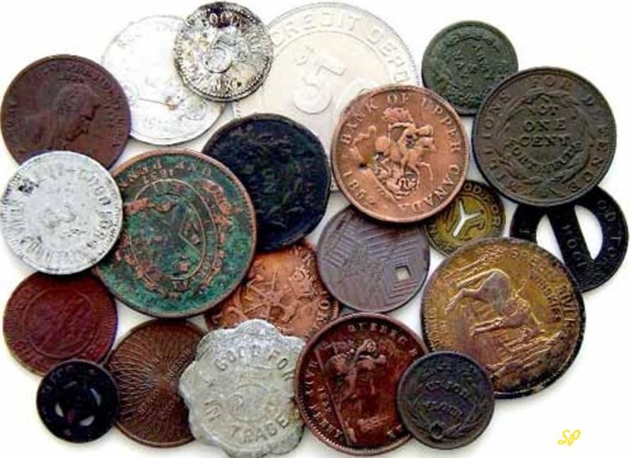 Древние металлические монеты различной формы из серебра, меди, золота yf ,tkjv ajyt