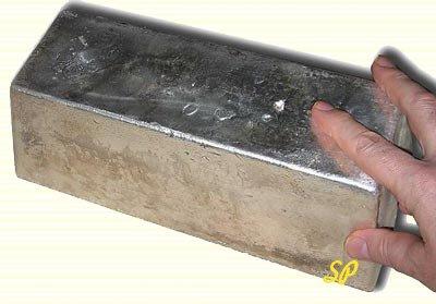Большой слиток серебра