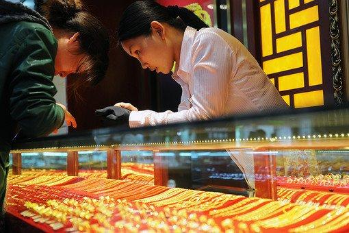 Золотые украшения в Китайском магазине