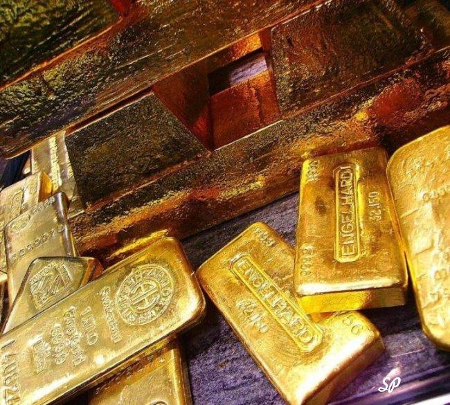 Разные золотые слитки