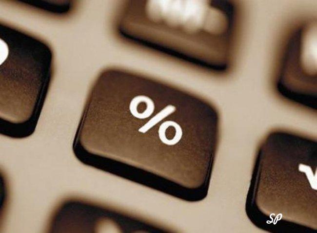 """Клавиша """"процент"""" крупным планом"""
