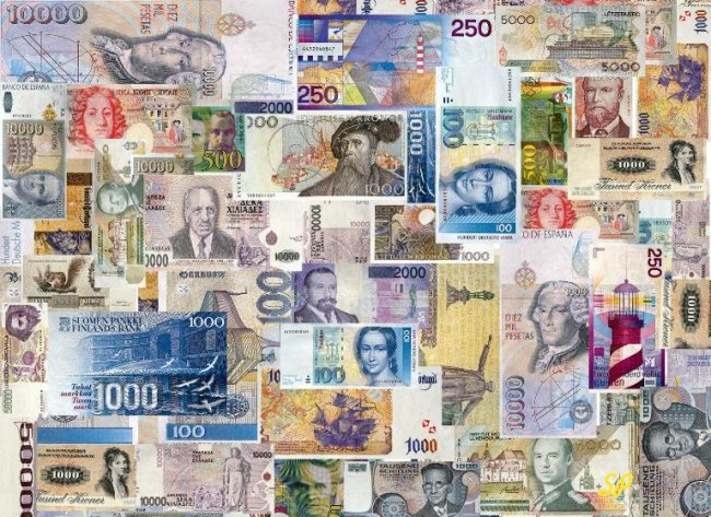 Различные купюры валют