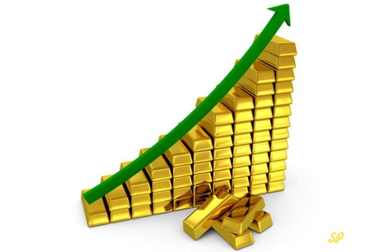 График из золотых слитков