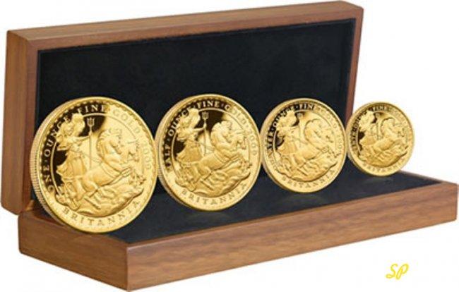 Монеты по возрастанию в коробке