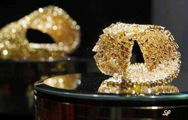 уникальное ювелирное изделие из золота