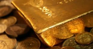 Золото: слиток и монеты