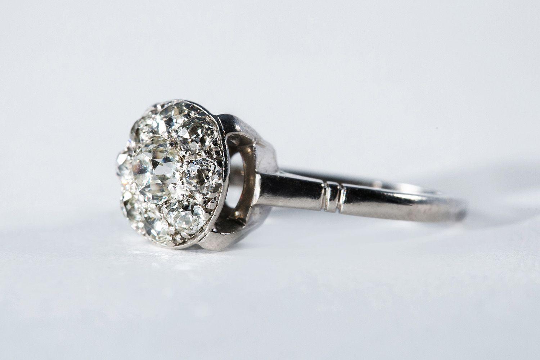 Кольцо из палладия с бриллиантом