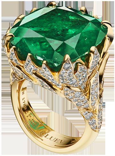 Золотое кольцо с камнем марки Cluev