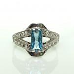 Серебряное кольцо с цирконием, цена - 289 гривен