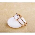 Золотое кольцо с фианитом, цена - 6569 гривен