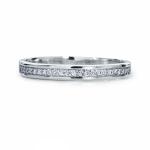 Обручальное кольцо из платины с 23 бриллиантами, цена 35 414 руб