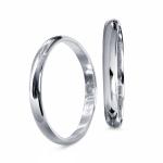 Пара обручальных колец из платины, цена 25 075 руб