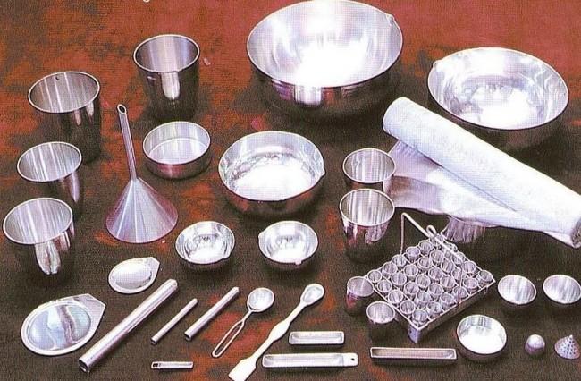 Серебряная лабораторная посуда
