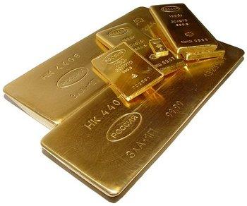 Слитоки золота Росиия 999.9