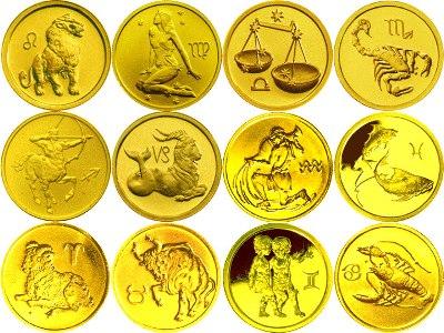 Золотые инвестиционные монеты серии «Знаки зодиака»