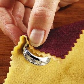Чистка золотого кольца