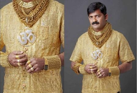 Золотая рубашка индийского банкира Дата Фудж