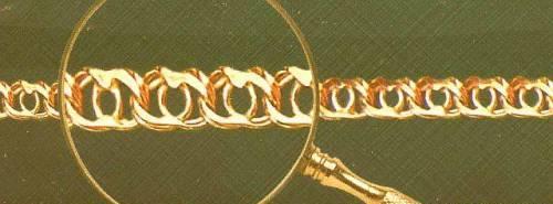 Плетение золотой цепочки Арабский бисмарк