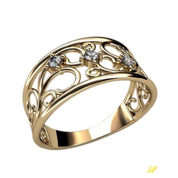женское кольцо из золота