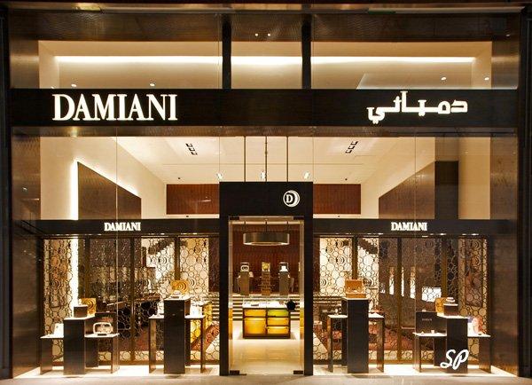 вход в элитный магазин бренда Damiani