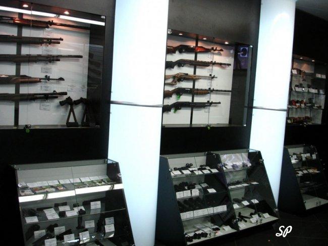 оборудование для оружейного магазина