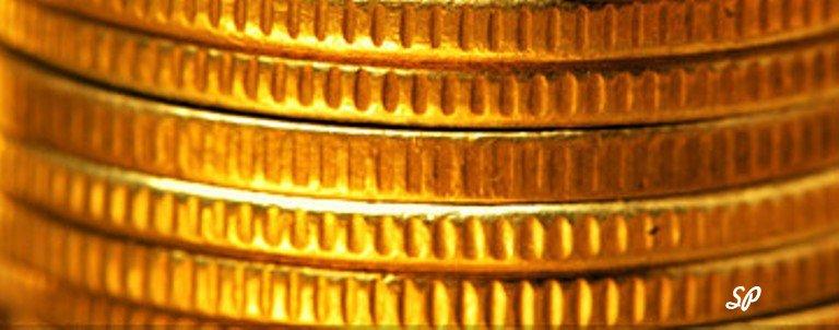 Стопка золотых монет