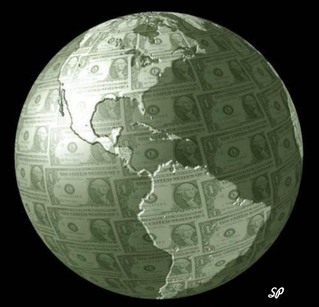 Планета из купюр долларов США