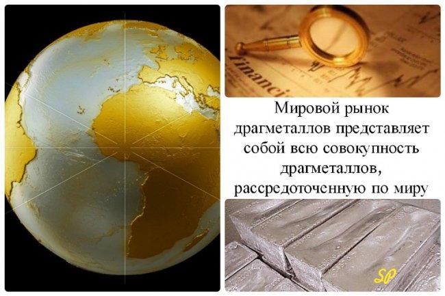 Коллаж о мировом рынке драгоценных металлов