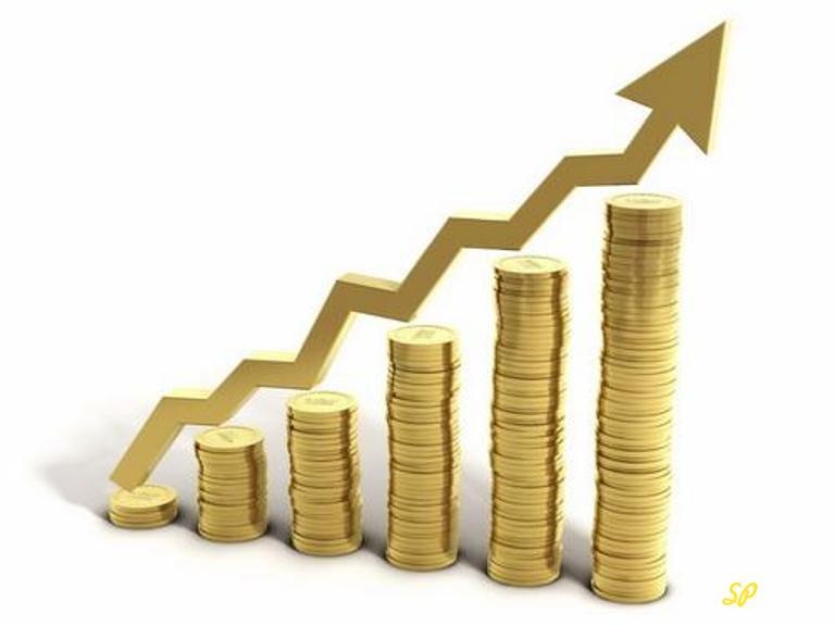 График роста из золотых монет