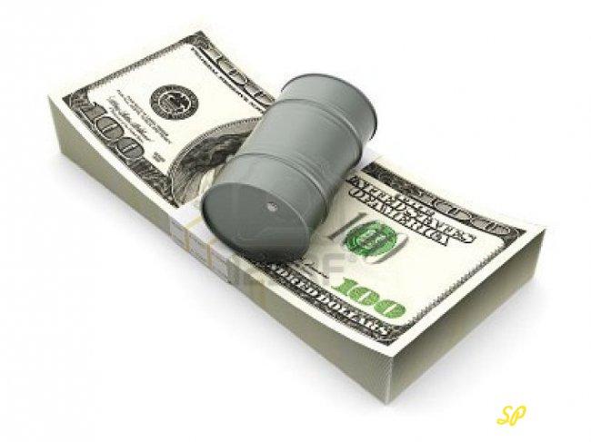Бочка поверх купюры доллара США