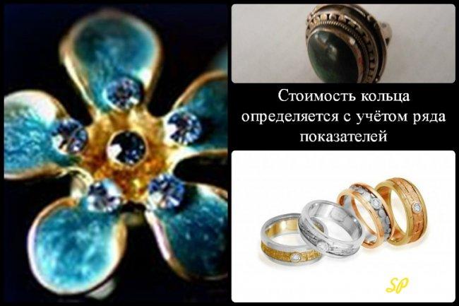 Коллаж о стоимости кольца