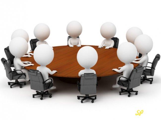 Человечки за круглым столом