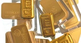 Разбросанные слитки банковского золота