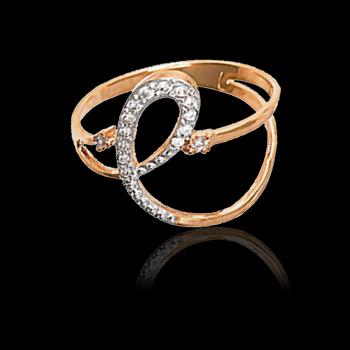 Утончённое золотое кольцо марки Мидас