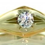 Золотое кольцо с цирконием, цена - 1545 гривен