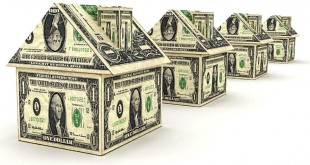 Модели домиков из купюр долларов США