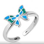 Детское серебряное кольцо с эмалью стоимостью 656 рублей