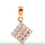 Подвеска из красного золота с кристаллами Сваровски стоимостью 4 646 рублей