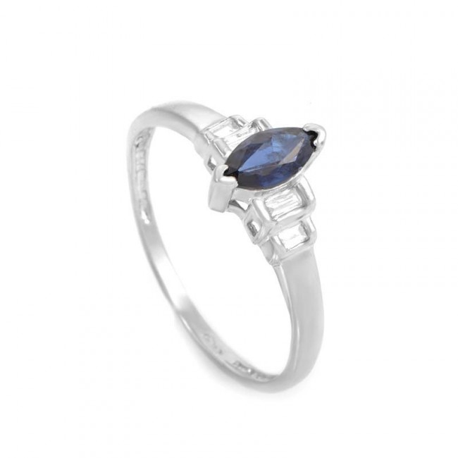 Платиновое кольцо с сапфирами и бриллиантами, цена – 270 долларов США