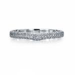 Женское кольцо из платины с бриллиантами, цена 56 576