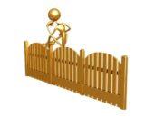 Золотой человечек - на золотом заборе