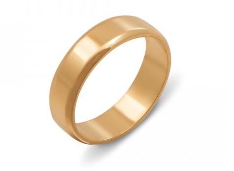 Обручальное кольцо европейской модели